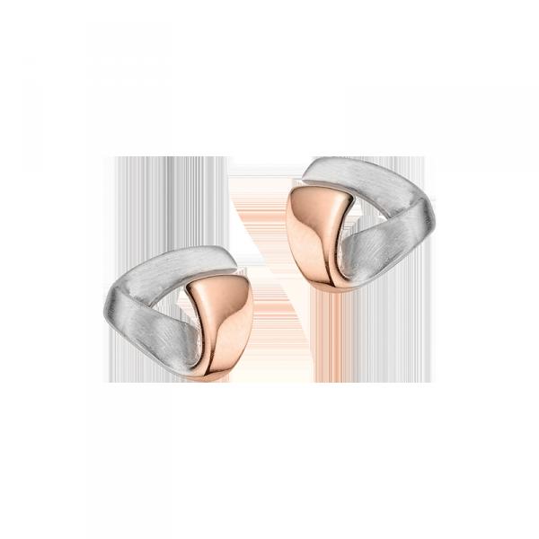 Ohrstecker in 925´er Sterling Silber in einem ründlichen Dreieck Design