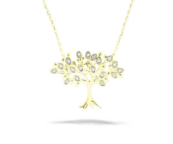 Halskette mit Anhänger Baum des Lebens 925'er Silber