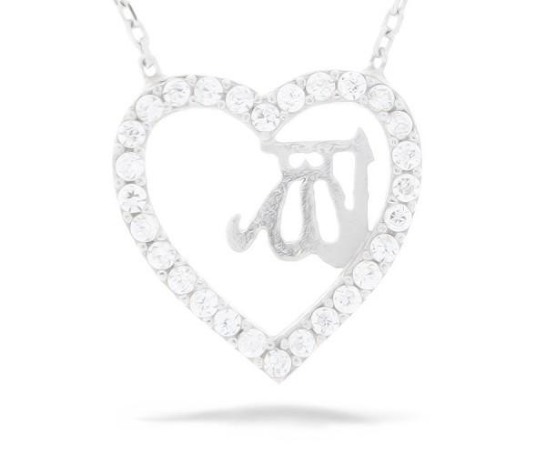 Halskette Herz mit der Innenschrift Allah
