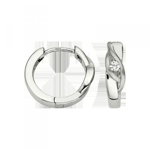 Creole in 925´er Sterling Silber mit modischem Design