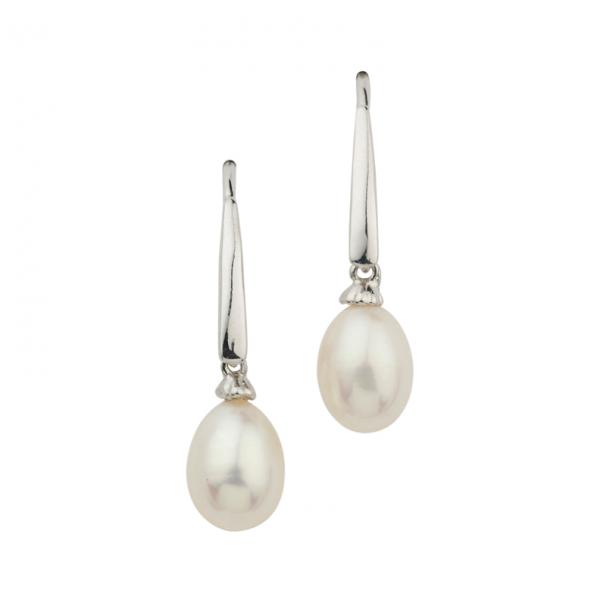Ohrhänger in 925´er Sterling Silber mit schönen Süßwasserzuchtperlen