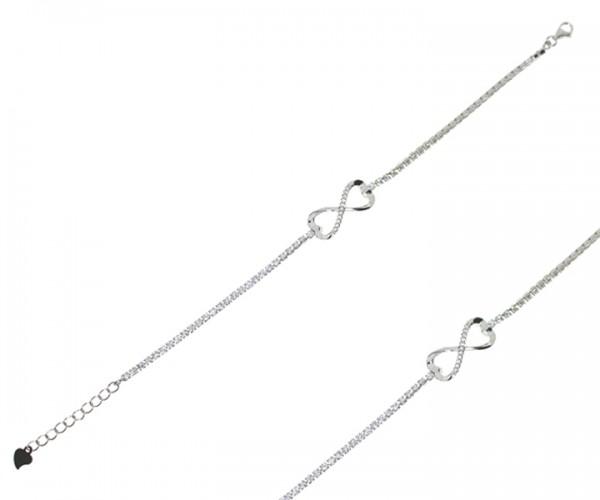Damen Armband in 925´er Silber mit Infinity