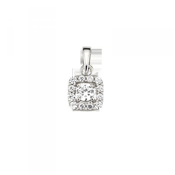Silberanhänger in Viereck Form