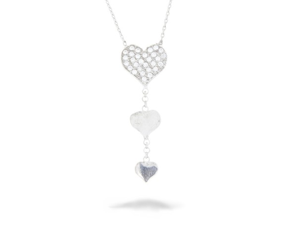 Halskette in 925´er Herzen