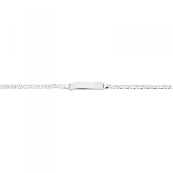 ID Armband in 925´er Sterling Silber mit Fantasiekette und Zwischenöse