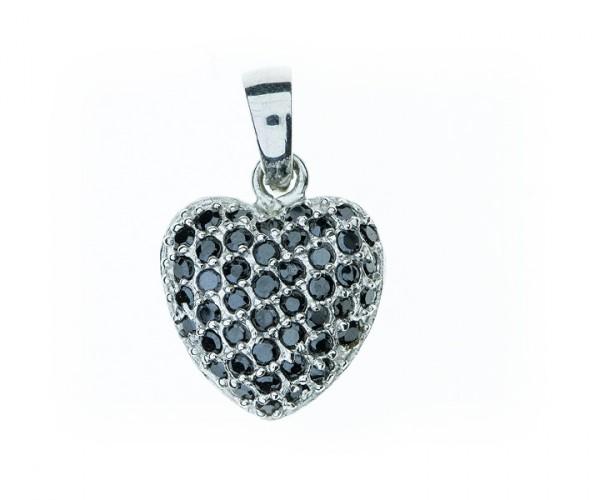 Silberanhänger Herz mit Zirkonia Steinen 30101