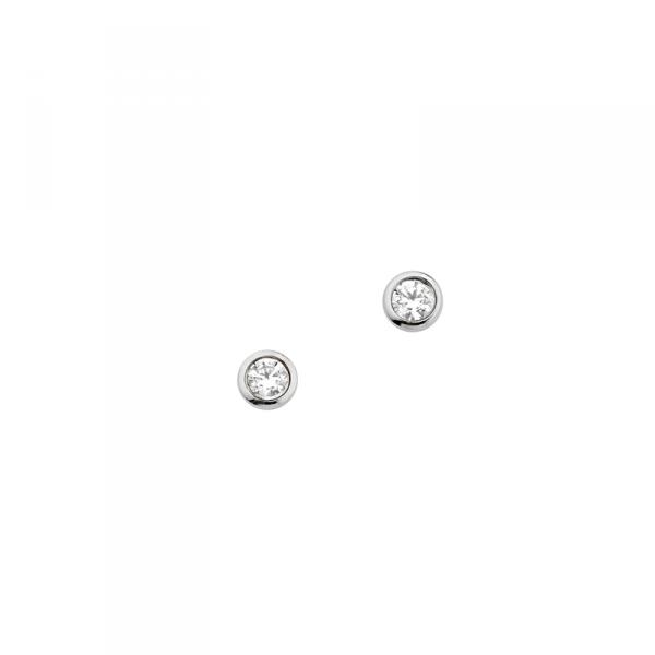 Ohrstecker in 925´er Sterling Silber mit prachtvollen Zirkonia Steinen