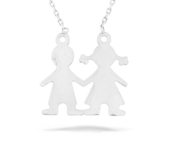 Halskette in 925´er Kinder Pärchen
