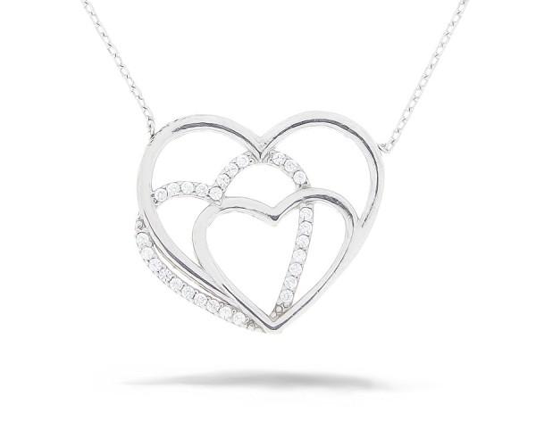 Herz Halskette mit Anhänger 925'er Silber