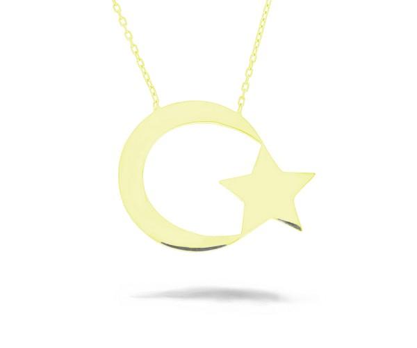Halskette mit Anhänger 925'er Silber Türkei vergoldet