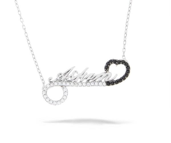 Moderne Halskette mit Anhänger in Silber 'Askim'