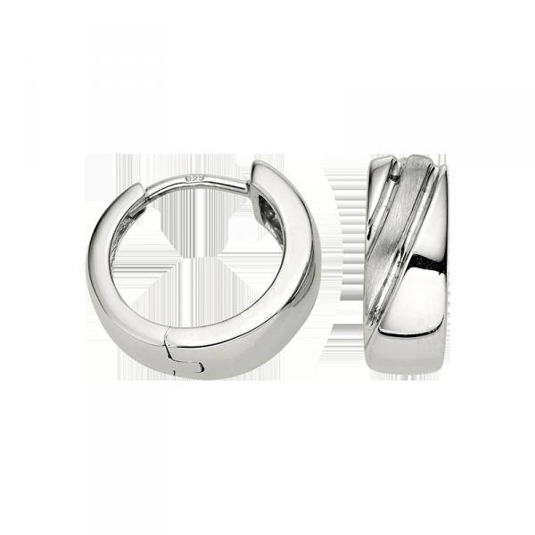 Creole in 925´er Sterling Silber mit mattierter und pollierter Oberfläche