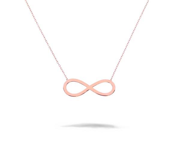Infinity Unendlich Halskette Rosé-vergoldet