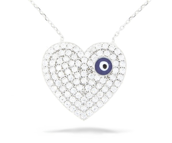 Halskette in 925´er Schlüssel mit Stein