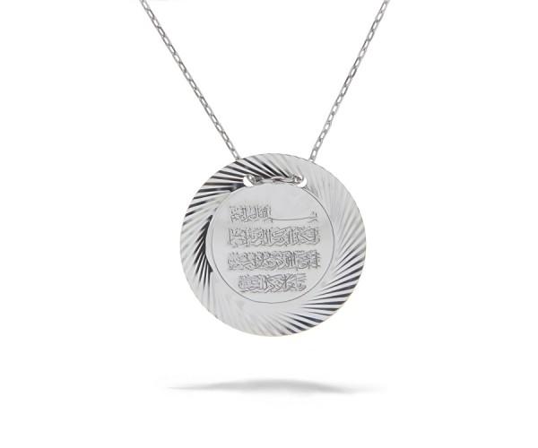 Halskette mit Anhänger Arabische Schrift 925'er Silber