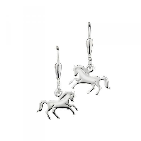 Ohrstecker in 925´er Sterling Silber mit schönen Pferden