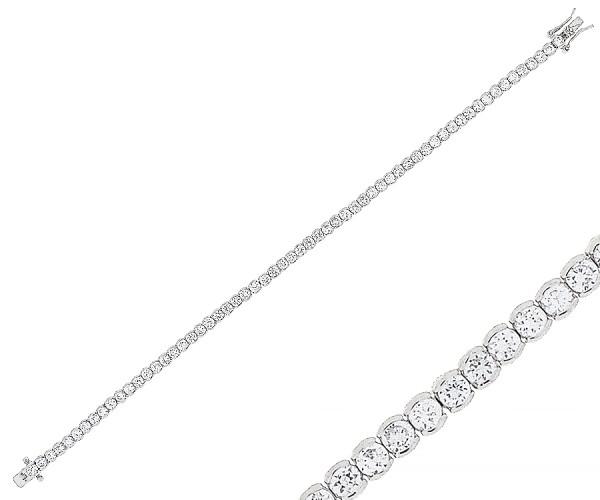Damenarmband mit Zirkonia Steinen 20 cm 20185