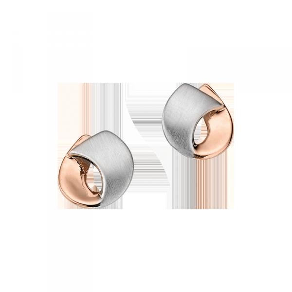 Ohrstecker in 925´er Sterling Silber in der Farbe rosé und silber