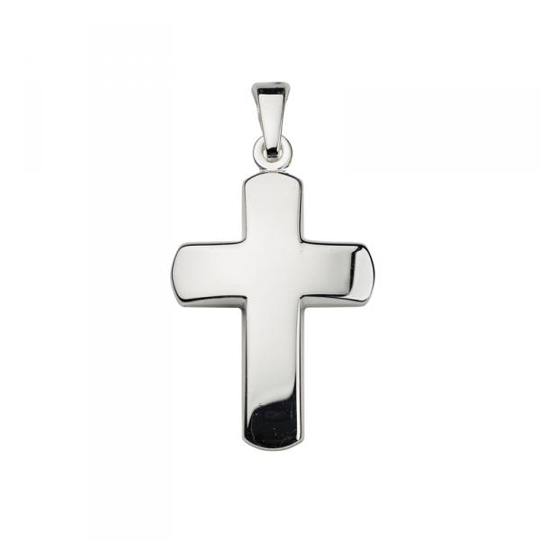 Kreuz Anhänger in 925´er Sterling Silber Hochglanzpoliert