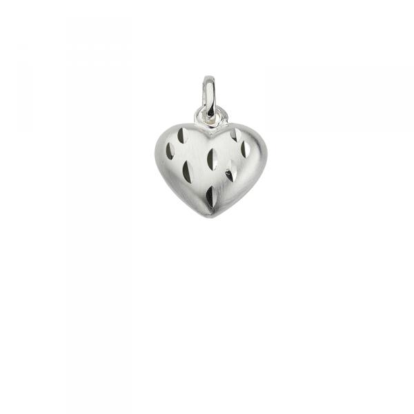 Taufanhänger in 925´er Sterling Silber in dezenter Herzen Form