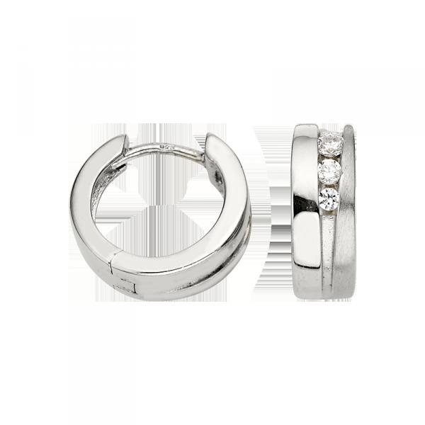 Creole in 925´er Sterling Silber mit mattierter und polierter Oberfläche
