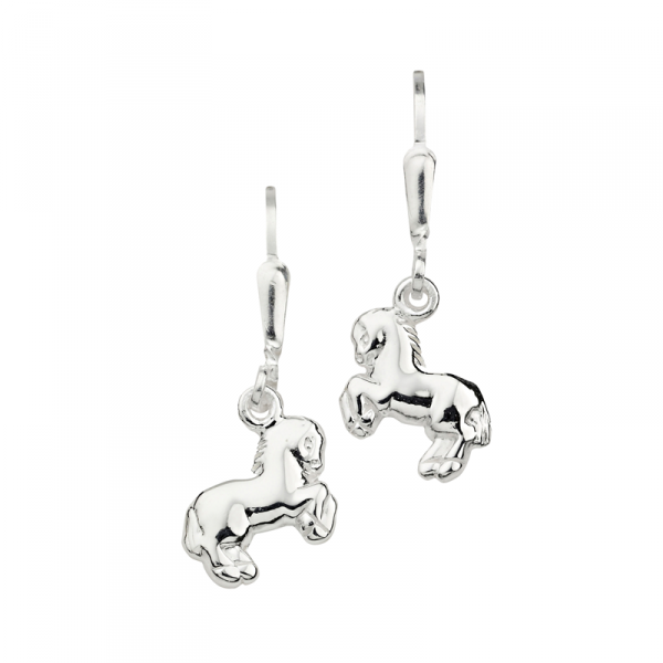 Sehr Schöne Ohrhänger in 925´er Sterling Silber mit Pferden in top Qualität