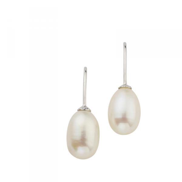 Ohrhänger in 925´er Sterling Silber mit schönen Süßwasserzuchtperlen CEM