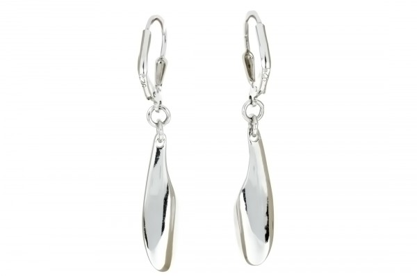 Ohrhänger in 925´er Sterling Silber in schlichtem Design