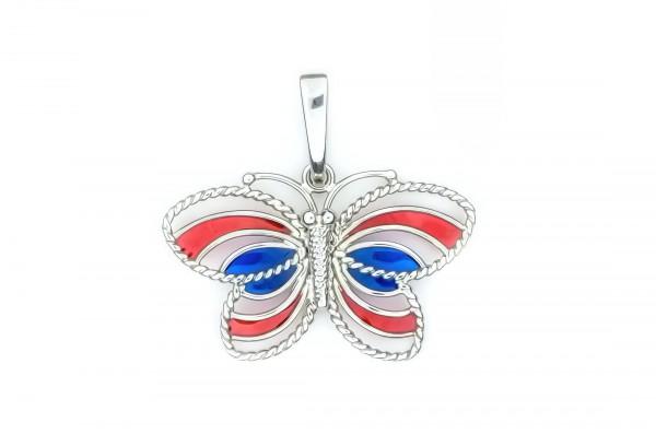 Silberanhänger mit Schmetterling
