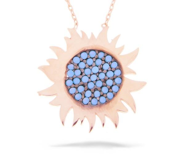 Halskette in 925´er Sonne Rosé