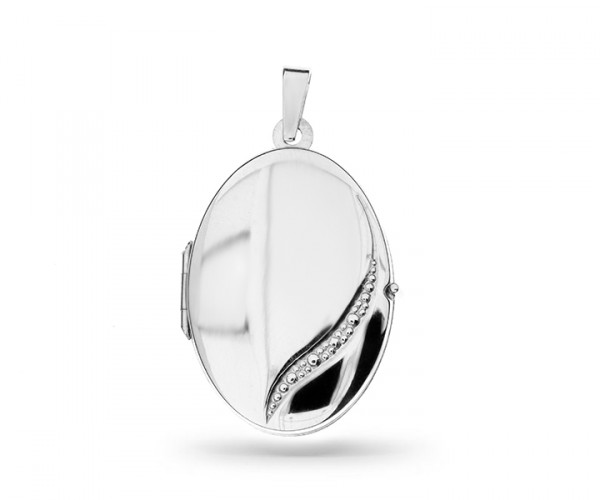 Ovales Silber Medaillon