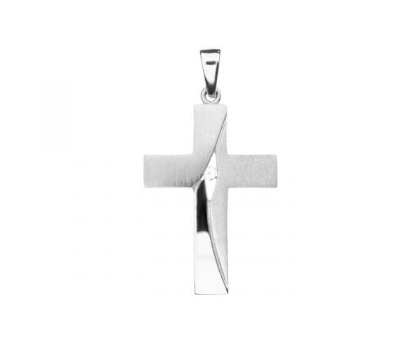 Kreuz Anhänger mit Stein