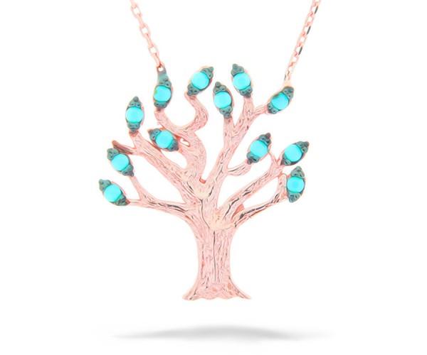 Halskette Baum des Lebens Rosé