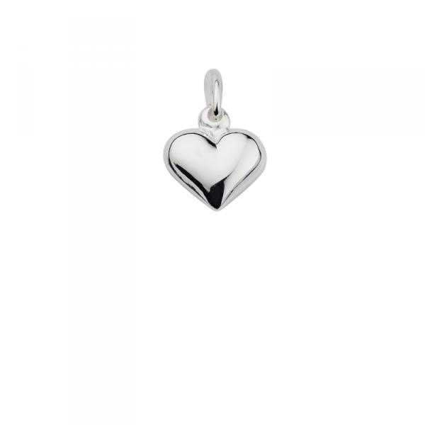 Taufanhänger in 925´er Sterling Silber mit einem hängenden Herz