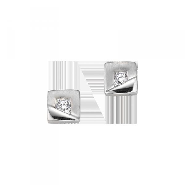 Ohrstecker in 925´er Sterling Silber mit einem Zirkonia als Kern