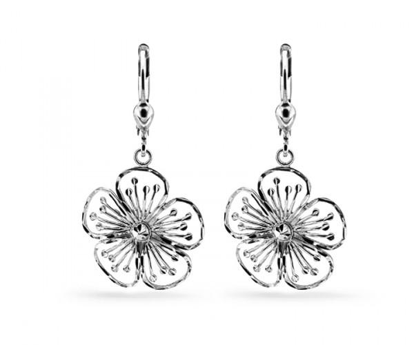 Ohrhänger Blume Silber 40087